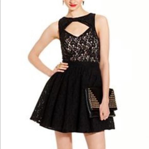 08c3e09c2 Material Girl Dresses | Black Lace Dress Size L | Poshmark